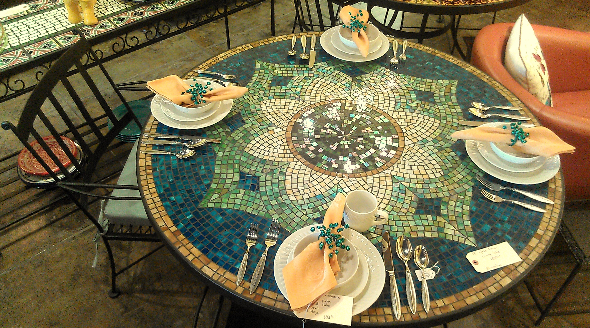 dining table dining table mosaic. Black Bedroom Furniture Sets. Home Design Ideas