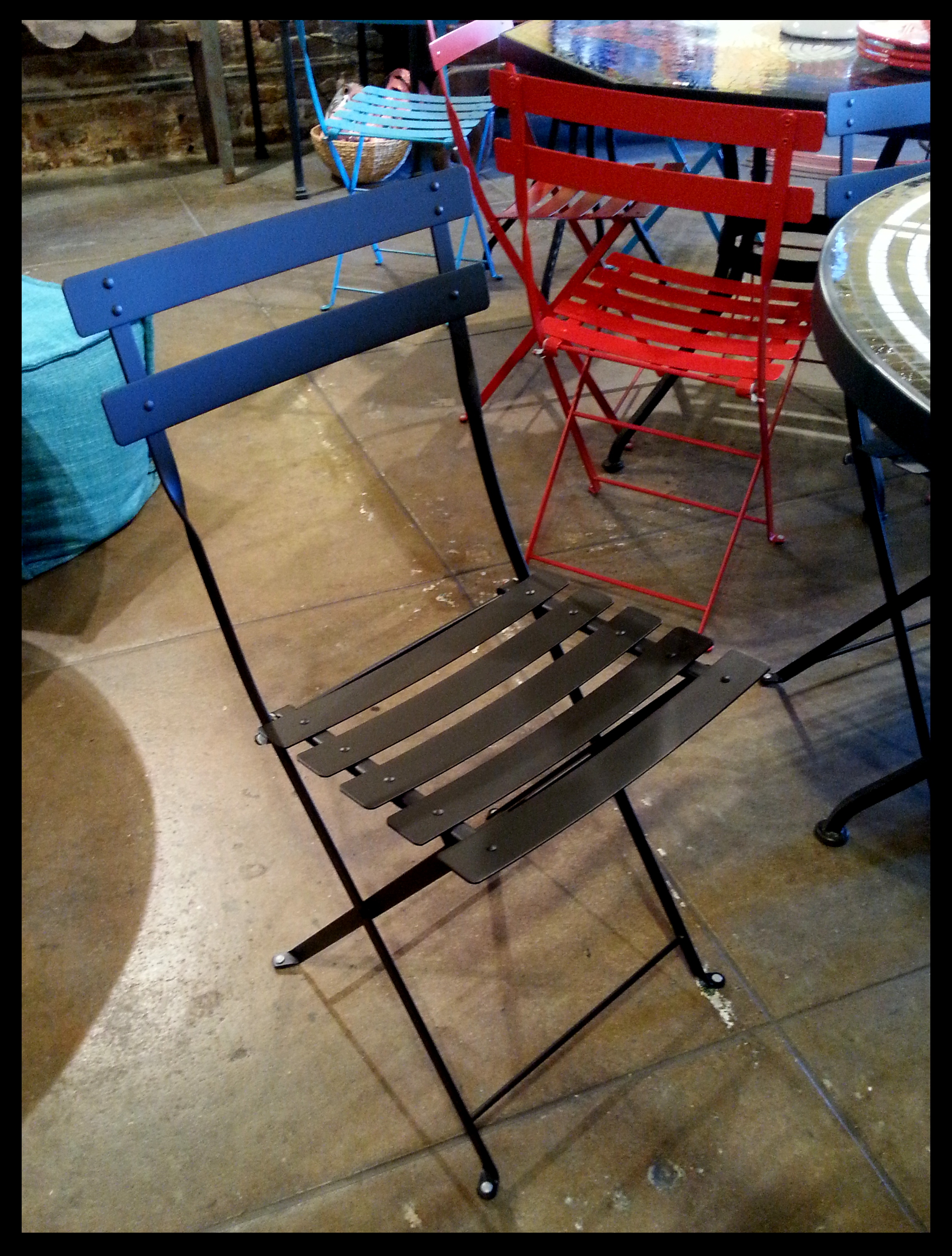 Furthur Wrought Iron Chairs, Wood Dining Chairs and Benches