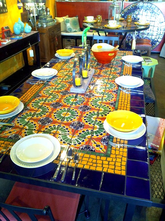 dining table furniture mosaic tile dining tables