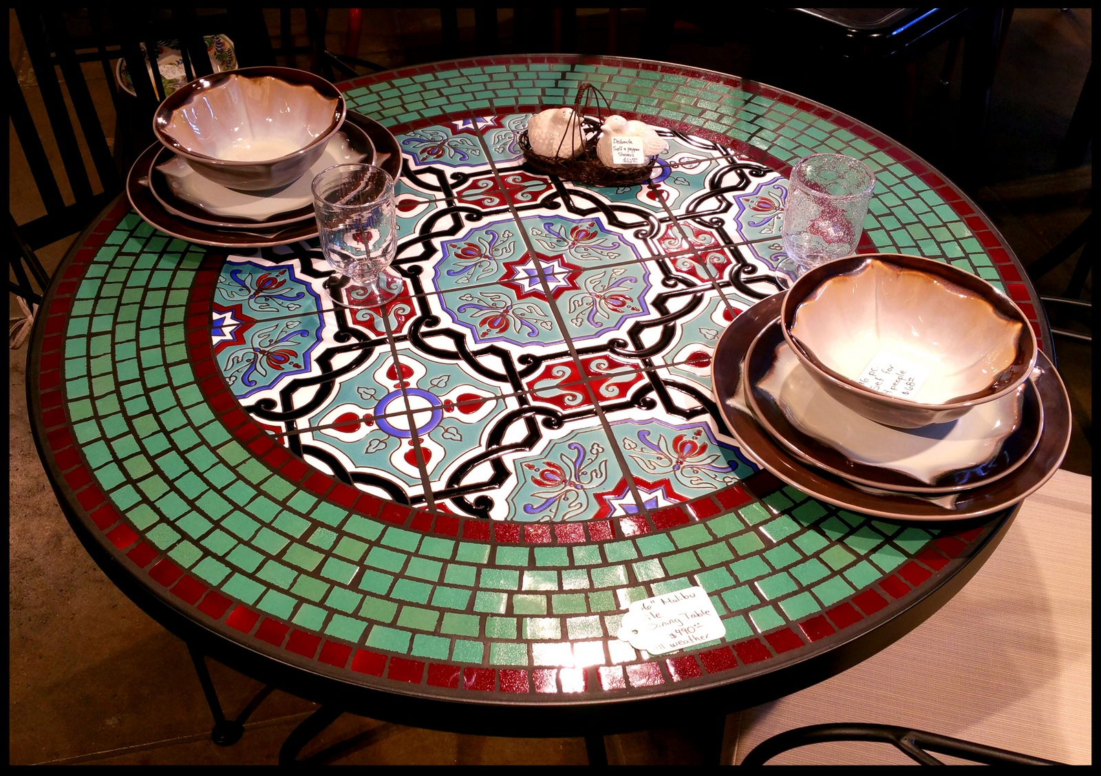 Tile and glass mosaic tables - Basics mosaic tiles patios ...