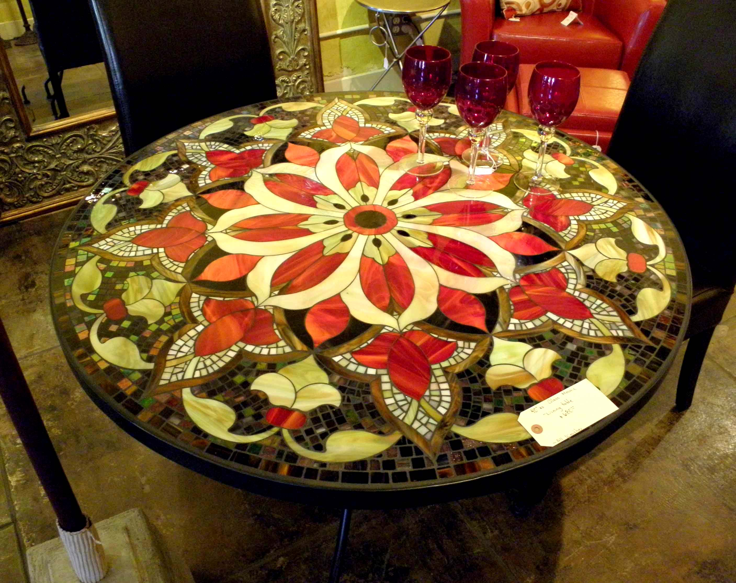 dining table furniture mosaic tile dining tables. Black Bedroom Furniture Sets. Home Design Ideas