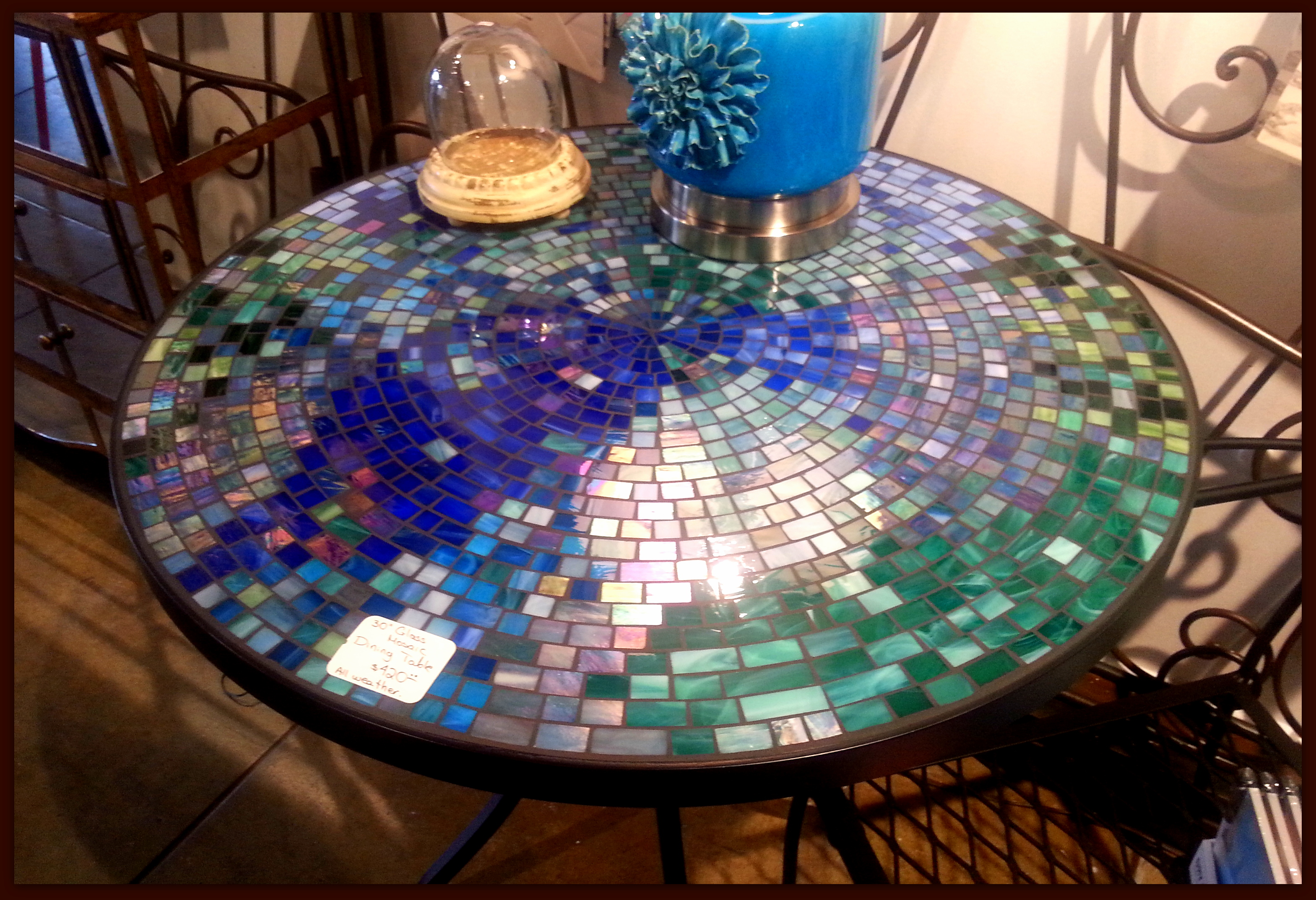 Tile And Glass Mosaic Tables