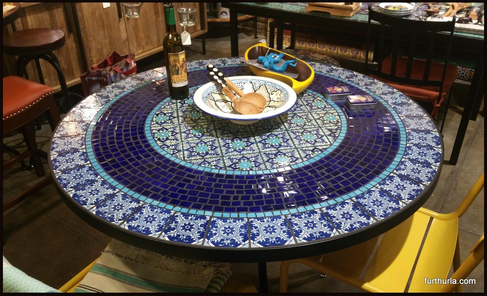 RECTANGULAR TILE TABLE COIMBRA AZUL