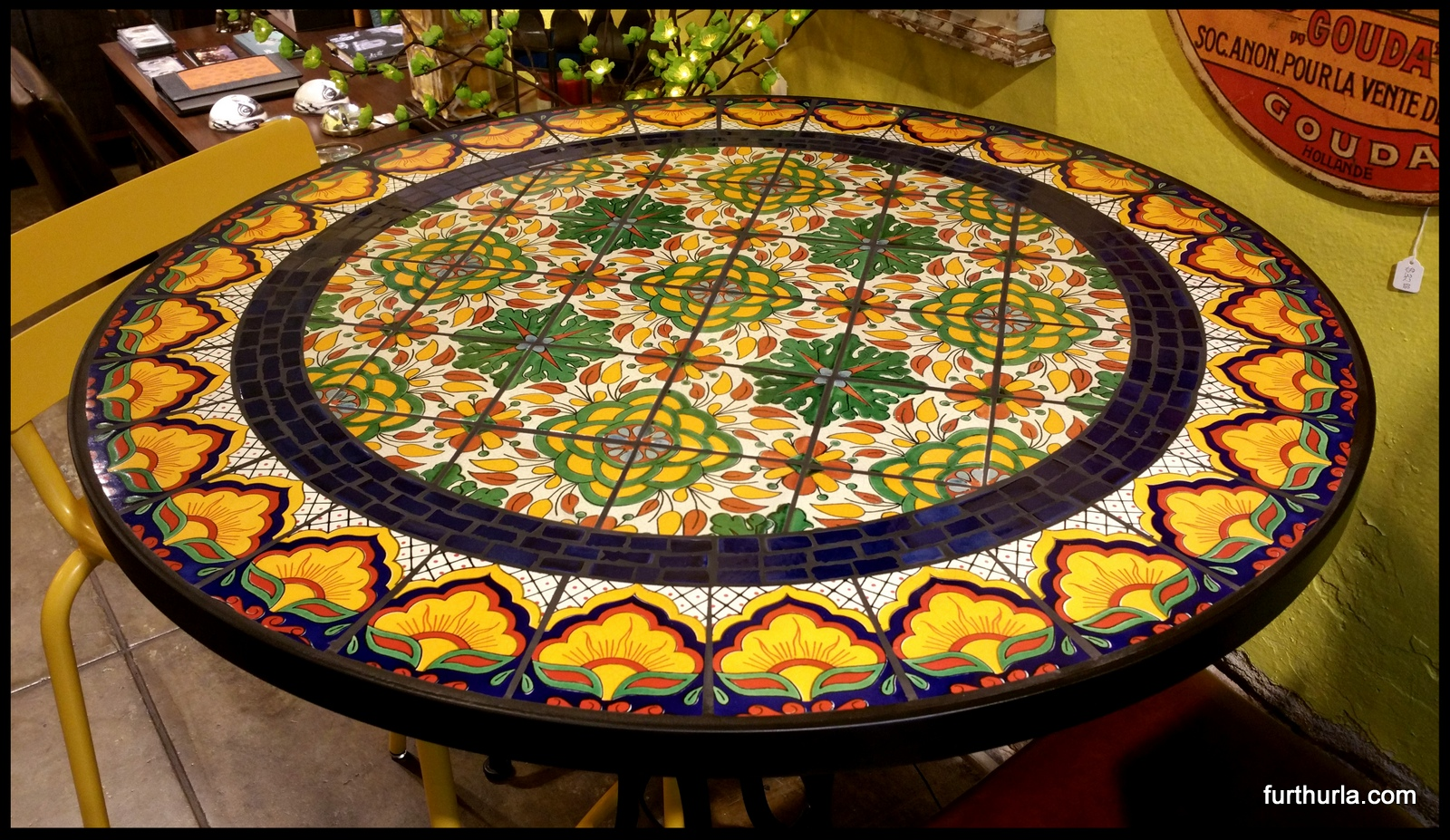 Nice Tile And Glass Mosaic Tables