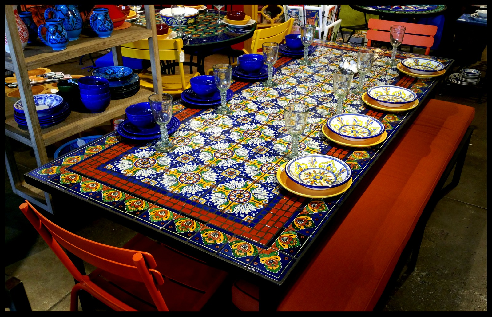 Outdoor Tile Table Top Furthur Wholesale Mosaic Dining Tables
