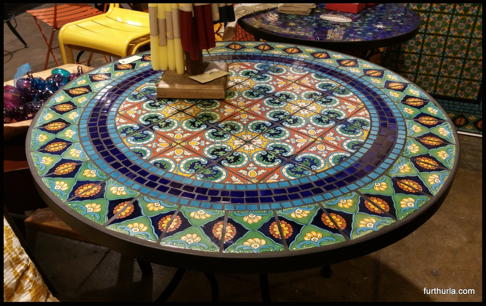 40 Tile Mosaic Patio Table Grecia