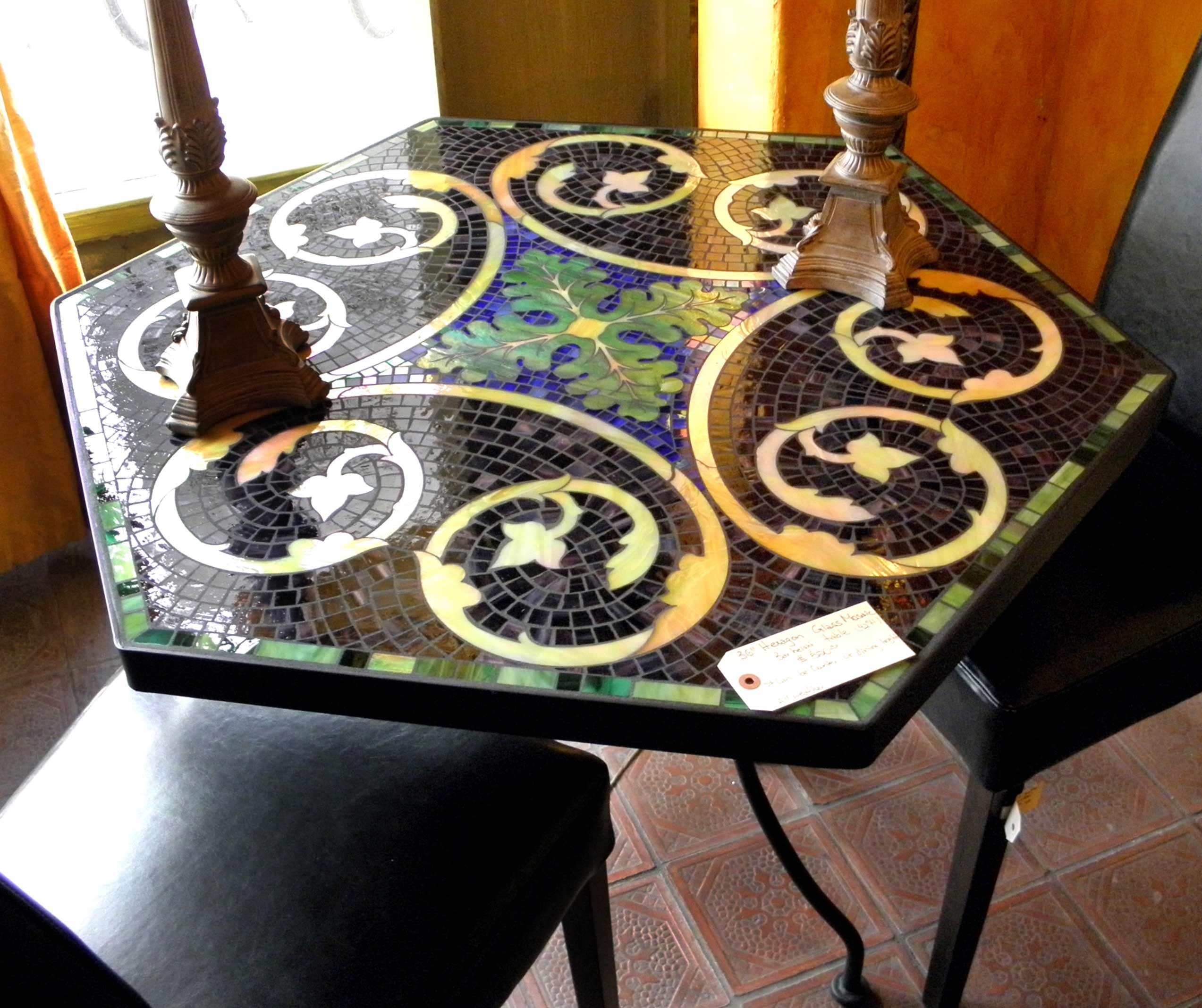 dining table mosaic dining table
