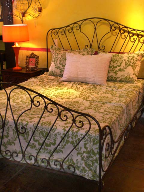 Furthur Wrought Iron And Carved Teak Beds