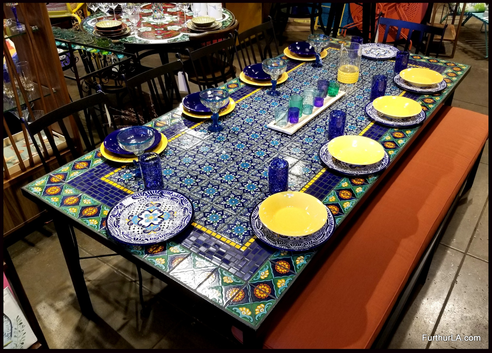 Tile Dining Table Cobalto 35