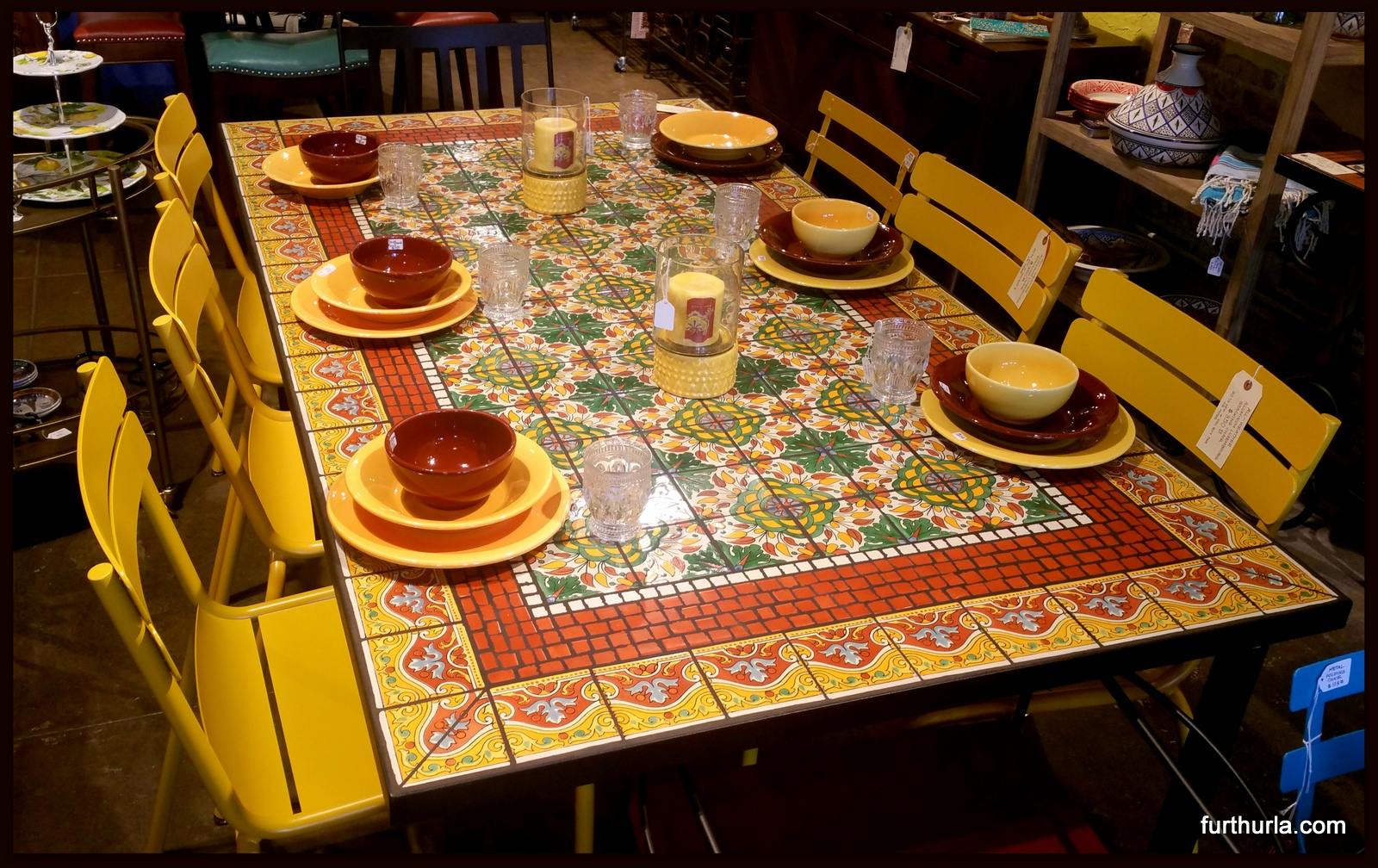 TILE MOSAIC DINING TABLE LLAMARADA