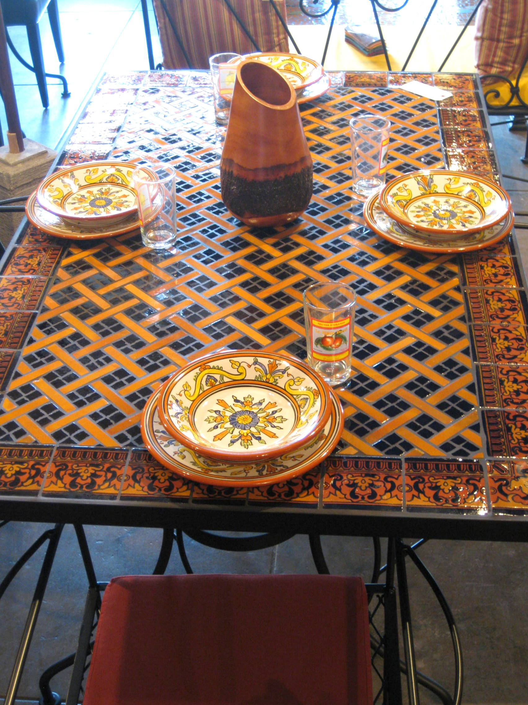 Stunning Mosaic Dining Room Table Plus Latitude Counter ...