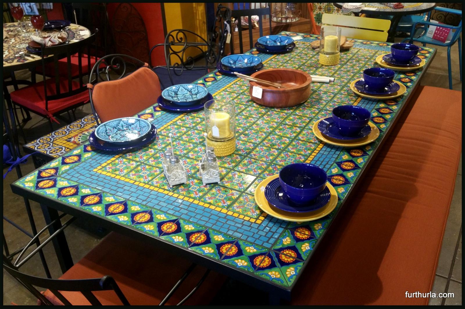 TILE MOSAIC DINING TABLE LLAMARADA